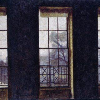Vilhelm Hammershøi, Interior in London, Brunswick Square, 1912