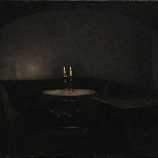 Vilhelm Hammershøi, Interior. Artificial Light, 1909